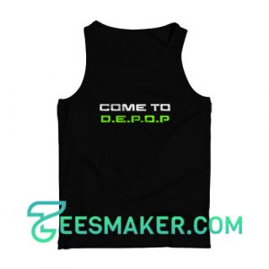 Come-To-Depop-Tank-Top-Black