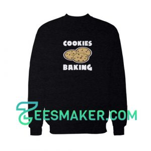 Cookies-Baking-Sweatshirt-Black