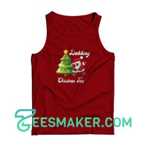 Dabbing--Christmas-Tree-Tank-Top-Maroon