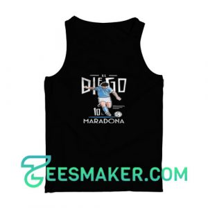 Diego-Maradona-Tank-Top-Black