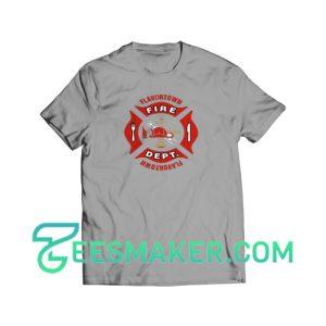 Flavortown-Fire-T-Shirt-Grey