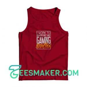 Game-Addiction-Tank-Top-Red-Maroon