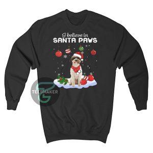Lagotto Romagnolo i believe in Santa paws Christmas Sweatshirt