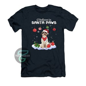 Lagotto Romagnolo i believe in Santa paws Christmas T-Shirt