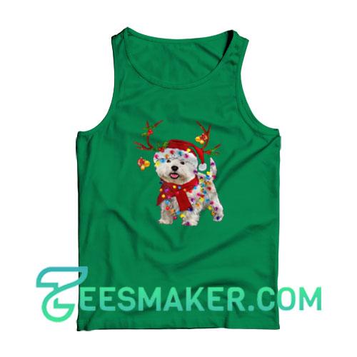 Westie-Dog-Gorgeous-Light-Tank-Top-Green