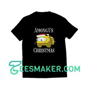Among-Us-Christmas-T-Shirt-Black