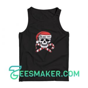 Christmas-Pirate-Tank-Top-Black