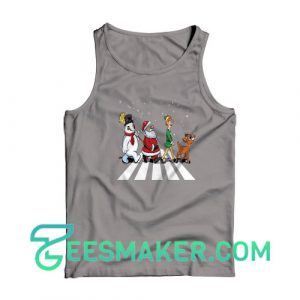 Christmas-Road-Tank-Top-Grey
