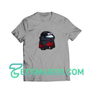 Among-Us-Ninja-Crossover-T-Shirt-Grey