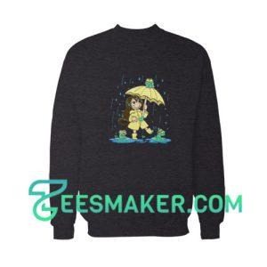 Best-Frog-Girl-Sweatshirt-Black