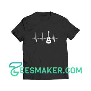 Acoustic Guitar Heartbeat T-Shirt