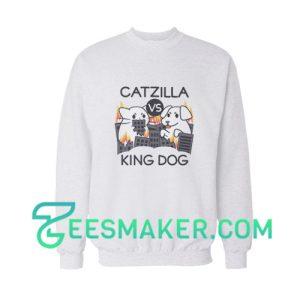 Catzilla Vs King Dog Sweatshirt