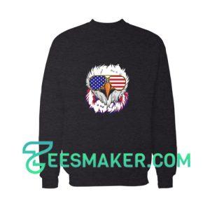 4th Of July Bald Eagle Sweatshirt